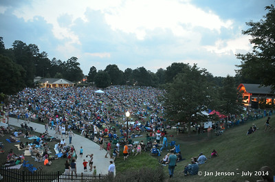 Crowd at Charlotte Symphony in Kannapolis Village Park  July 2, 2014