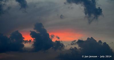 Sunset above Charlotte Symphony