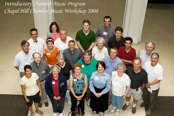 Chapel Hill Chamber Music Workshop - Group Pictures 2008