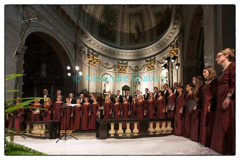 7 septembre 2013: le Choeur Novantiqua de Sion en l'église de Monthey (VS) pendant la Schubertiade d'Espace 2.