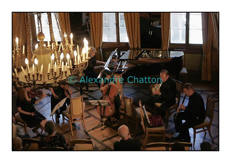 L'Ensemble Artefact en concert à la Salle de la Grande Société à Fribourg le dimanche 2 septembre 2007 pendant la Schubertiade d'Espace 2.