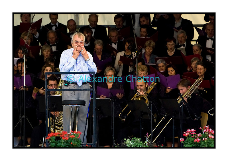 La Messe allemande dirigée par André Charlet à la 16e Schubertiade d'Espace 2 le dimanche 6 septembre 2009 sur la Place du Marché de Payerne.