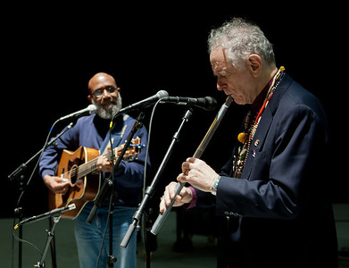 David Amram and Josh White Jr. at sound check.