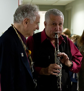 David Amram and Paquito D'rivera in the green room.