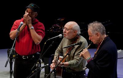 Guy Davis, Peter Yarrow and David Amram.