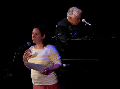 Anna Canoni and David Amram.