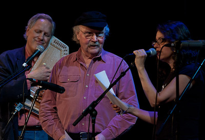 Tom Chapin, Tom Paxton and Lucy Kaplanski.