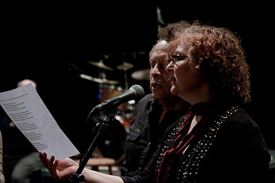 Garland Jefferies and Lisa Gutkin rehearsing.