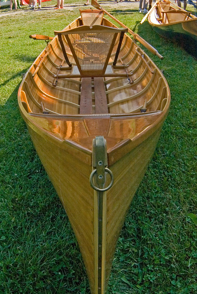 """This is one of the """"when I win the lotto I'm gonna get me one of these"""" crafts, Beautiful wooden pulling boat. To call this a """"rowboat"""" would be like calling a Rolls Royce a """"family sedan""""."""