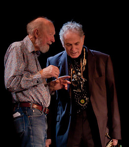 Pete Seeger and David Amram.