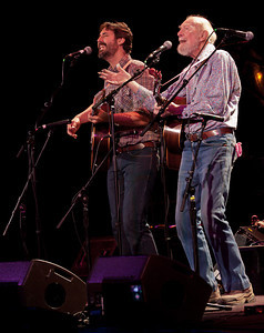 Pete Seeger and Tao Rodriquez.