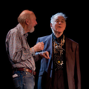 Pete Seeger and David Amram enjoying a laugh.