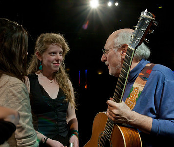 Peter Yarrow sharing a moment with some members of Power of Song.