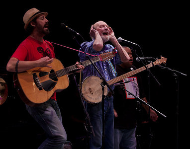 Tao Seeger, Pete Seeger and Toshi Reagon.