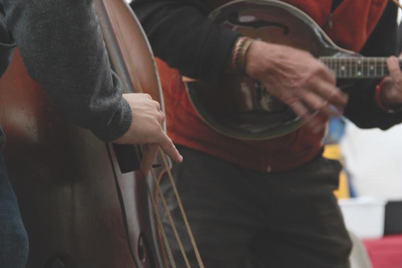 Bass and mandolin close up