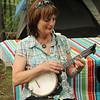 Toni and her banjo uke.