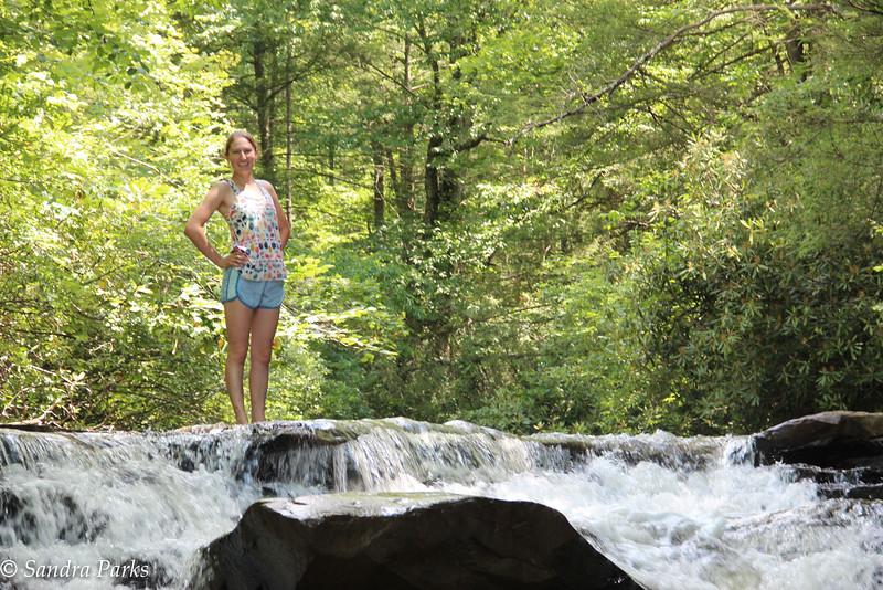 Cecelia at Mann's Creek Gorge Falls
