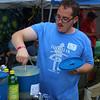 Hunter making lemonade.