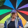 Jodi, with the coolest umbrella.