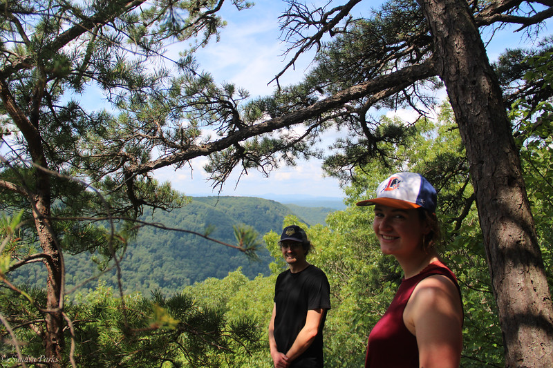 Cory and AMy, Mann's Creek Gorge overlook