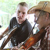 Learning fiddle tunes. Niels  Bonefass and Keith McManus
