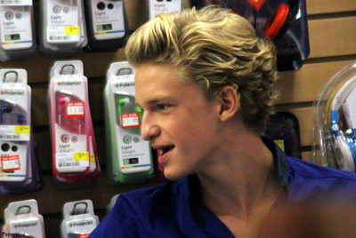 Cody Simpson at FYE in Meriden, Connecticut on September 2, 2012