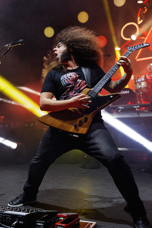 . Coheed and Cambria  live at Michigan Lottery Amphitheatre on 7-27-2018.  Photo credit: Ken Settle