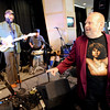 "Barry Fey, right, acknowledges Otis Taylor and Kenny Passarelli, not pictured.<br /> Barry Fey and Harry Tuft were inducted into the Colorado Music Hall of Fame during a ceremony at the Stadium Club at Folsom Field on the CU campus on Sunday.<br /> For a video and more photos the event, go to  <a href=""http://www.dailycamera.com"">http://www.dailycamera.com</a>.<br /> Cliff Grassmick / February 12, 2012"