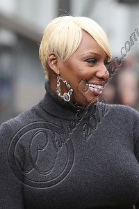 LOS ANGELES, CA - NOVEMBER 08:  Televsion personality NeNe Leakes attends filming on EXTRA at The Grove on November 8, 2012 in Los Angeles, California.  (Photo by Chelsea Lauren/WireImage)