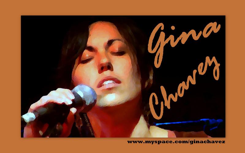 Gina's orig biz-card photo / shot at Momo's in Austin, TX / 2007