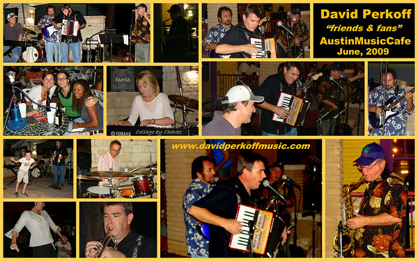 David Perkoff (sax) and friends having fun at the Austin Music Cafe in Austin, TX / Jun, 2009