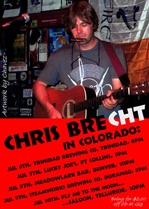 Handbill for Chris' Colorado Tour / Live at Jovita's in Ausitn, TX / Jun, 2009