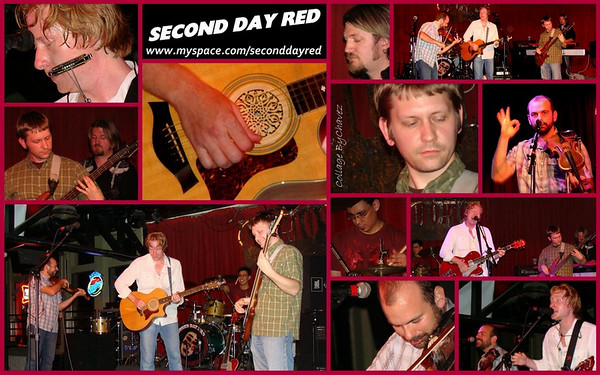 Stephen Clarke (1st photo) is the lead singer for Second Day Red, shot live at Momo's in Austin, TX / Jul, 2009