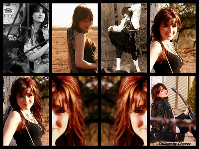 "LIndsay Wells photos from her MySpace--one of my first collages with ""Their photos, my arrangement"" / Mar, 2009"