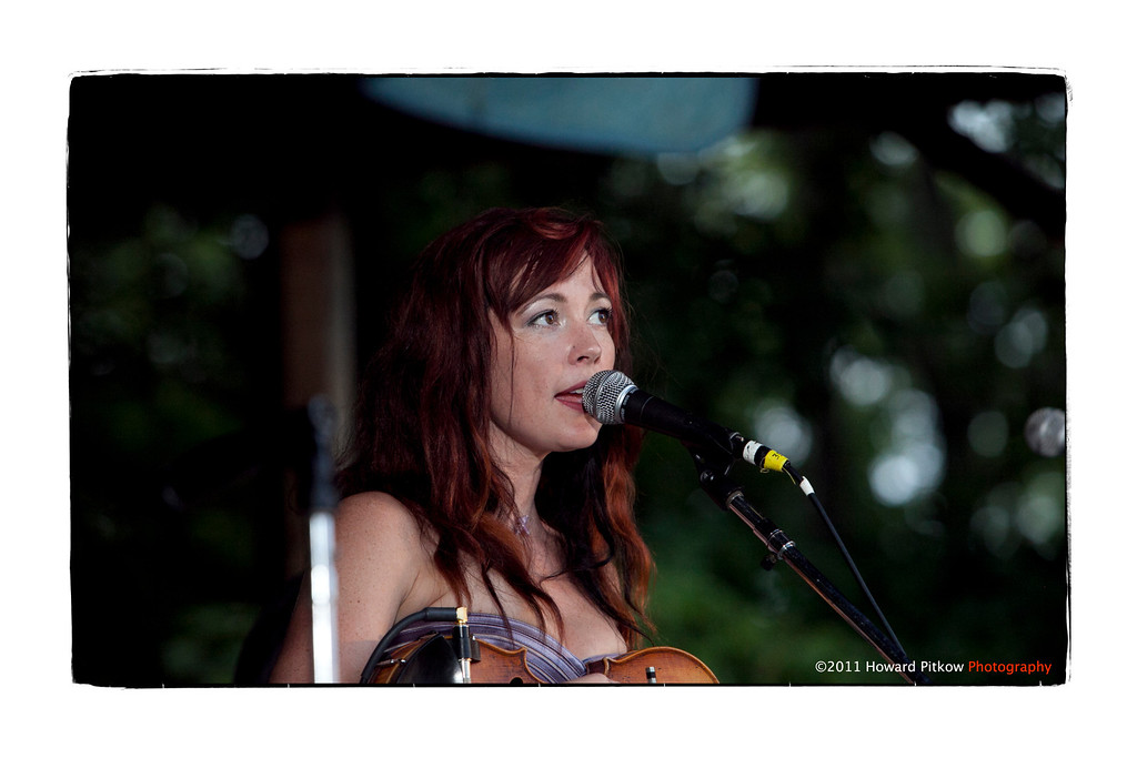 Amanda Shires performing at the Philadelphia Folk Festival