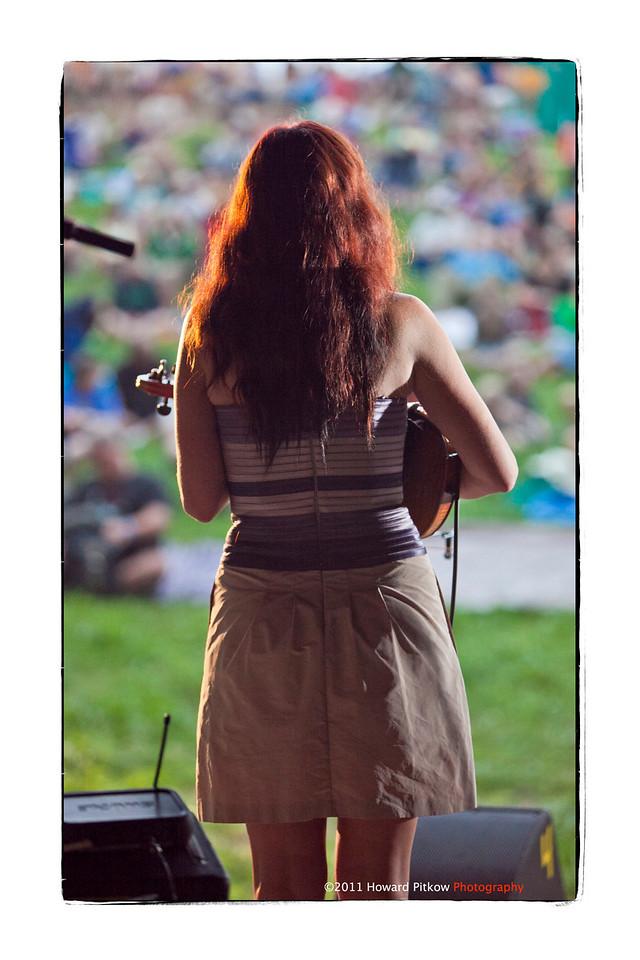 Amanda Shires performing at the 2011 Philadelphia Folk Festival