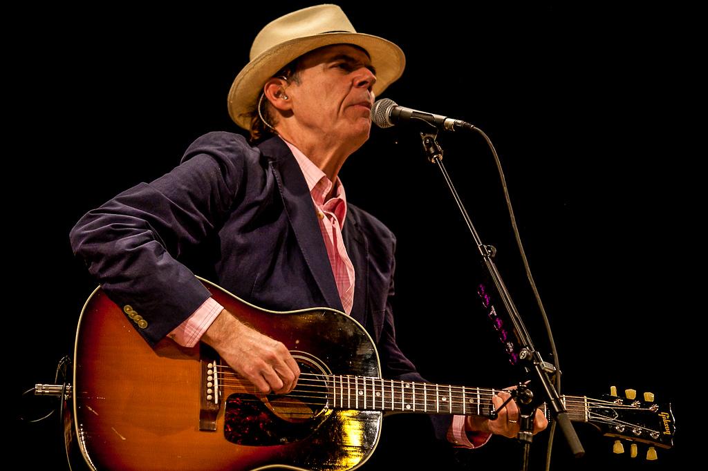 John Hiatt performed on Main Stage Saturday night.  (Howard Pitkow/for Newsworks)