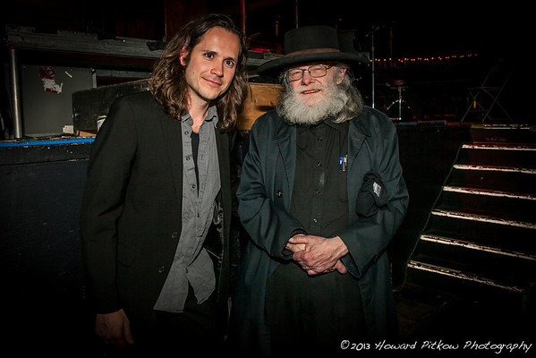 Promoter/Musician Andrew Lipke with Gath Hudson backstage before the concert