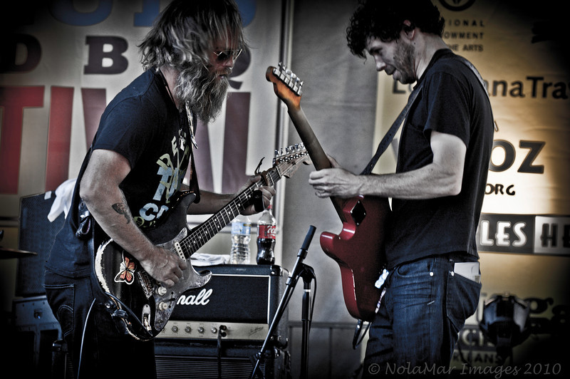 Anders Osborne & Scott Metzger w/The Stanton Moore Trio  - Crescent City Blues & BBQ Festival 2010