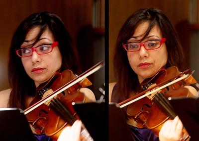Two views of Rita Porfiris