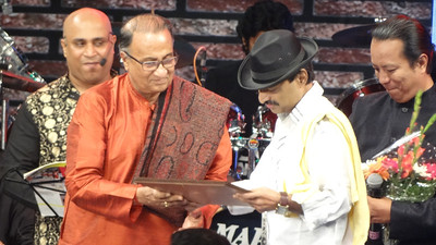 Nachiketa felicitated by the Bengali Association...