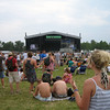 At the main stage getting ready for The Raconteurs