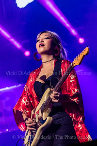 Jin Joo Lee of DNCE performing at 93.3 FLZ's iHeartRadio Jingle Ball on December 17, 2016 at Amalie Arena in Tampa, Florida.