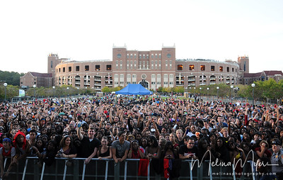 Fans await the start of FSU's Warchant Concert held on October 31, 2010 on Langford Green.