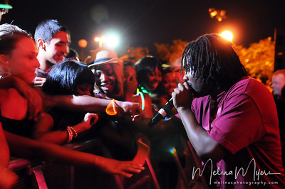 Wale sings and interacts with fans at FSU's Warchant Concert held on October 31, 2010 on Langford Green.