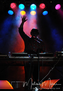 DJ Omega performs with Wale at FSU's Warchant Concert held on October 31, 2010 on Langford Green.