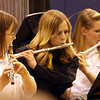 ROBERT LEBZELTER / Star Beacon<br /> PERFORMING IN the Conneaut High School Concert band are, from left, Heidi Camp, Hannah Lower and Shae Brink.