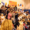 ROBERT LEBZELTER / Star Beacon<br /> THE CROWD shows its appreciation after the alumni band performs Conneaut High School Marching Band favorites.