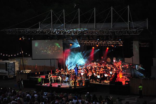 ConocoPhillips Symphony, DSO and the Zep Boy. Botanic Gardens Amphitheatre 31.07.15.