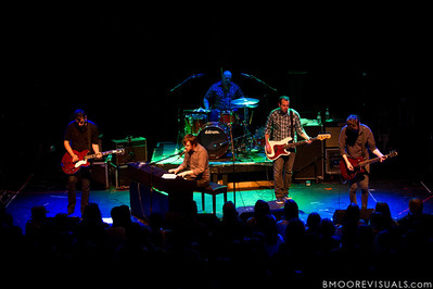 Stephen Laurenson, Aaron Marsh, Jon Bucklew, James Likeness, and Bryan Laurenson of Copeland perform during their Farewell Tour on April 8, 2010 at State Theatre in St. Petersburg, Florida